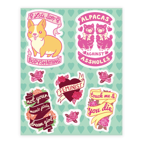 Feminine Feminist  Sticker/Decal Sheet