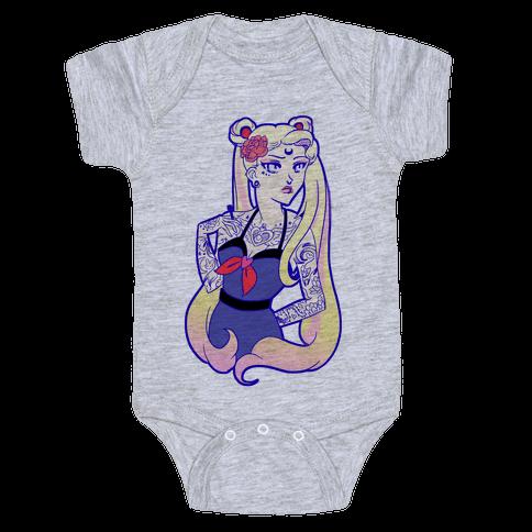 Punk Sailor Moon Baby Onesy