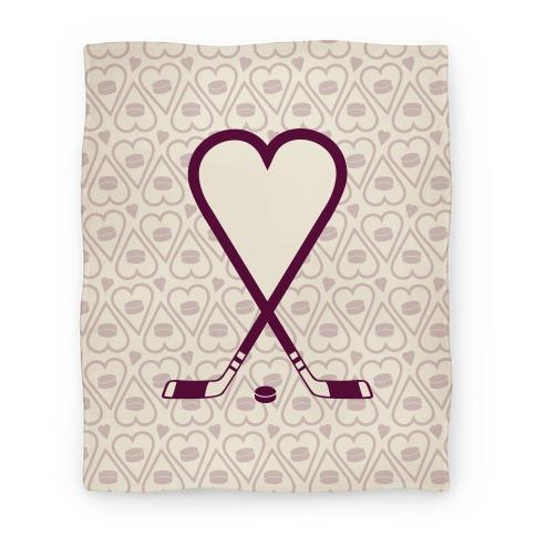 Hockey Love Blanket