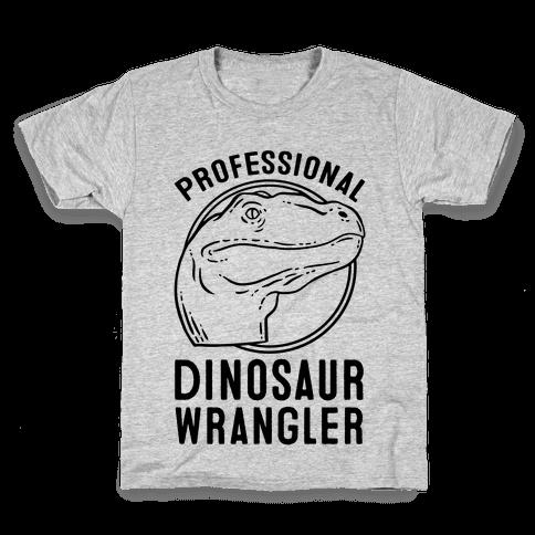 Professional Dinosaur Wrangler Kids T-Shirt