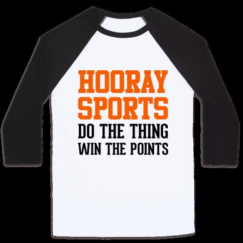Hooray Sports (Orange) Baseball Tee