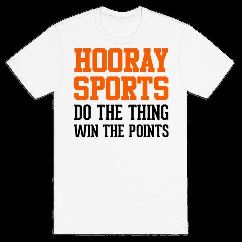 Hooray Sports (Orange) Mens T-Shirt