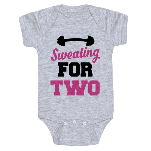 Sweating For Two Baby Onesy