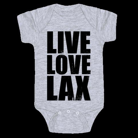 Live, Love, Lax (Tank) Baby Onesy