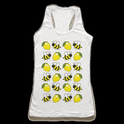 Lemon And Bee Racerback Tank Top