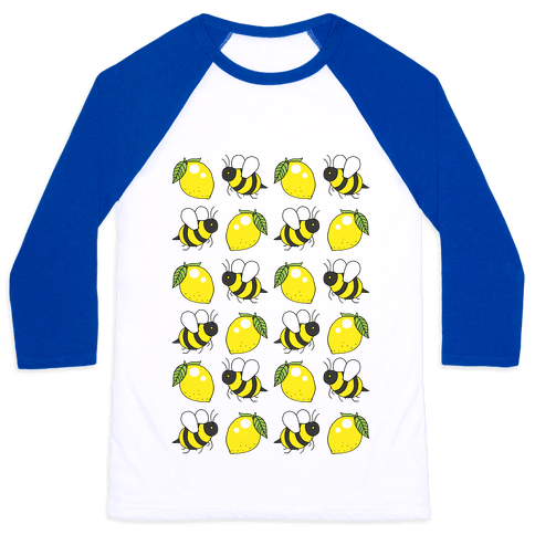 Lemon And Bee Baseball Tee