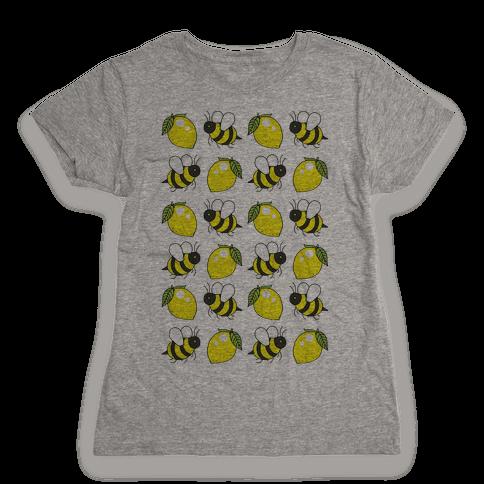 Lemon And Bee Womens T-Shirt