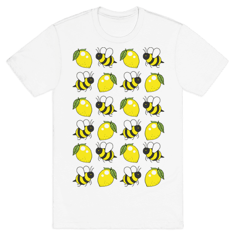 Lemon And Bee Mens T-Shirt