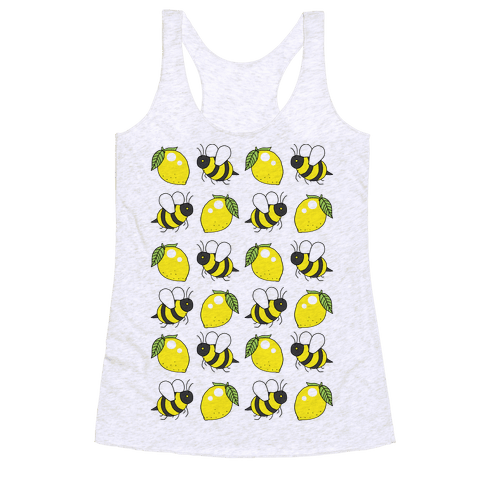Lemon And Bee Racerback Tank Top