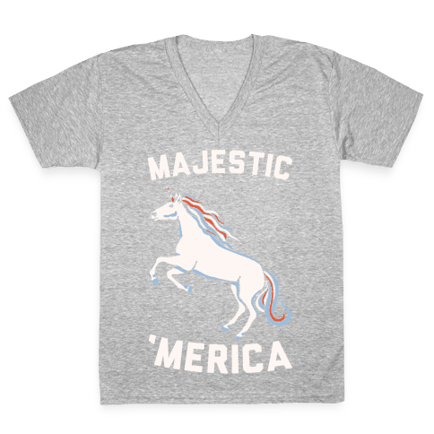 Majestic 'Merica V-Neck Tee Shirt