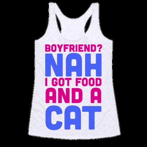 Boyfriend? Racerback Tank Top
