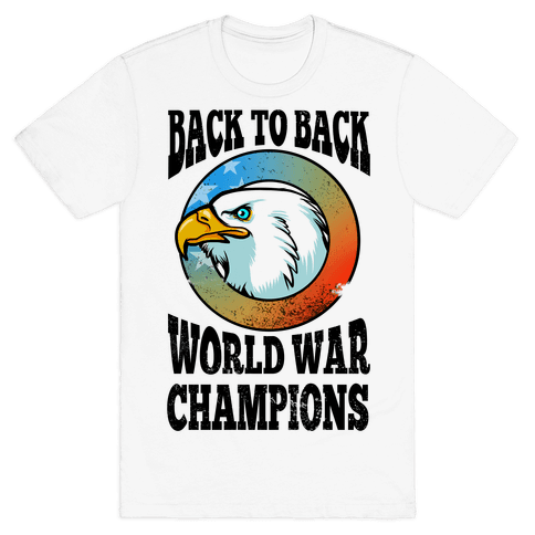 Back to Back World War Champions Mens T-Shirt