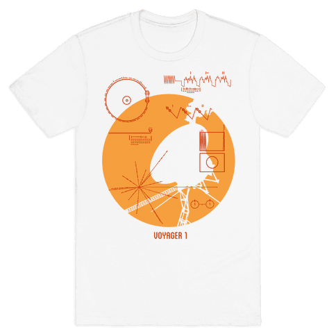 Retro Voyager 1 Golden Record Mens T-Shirt