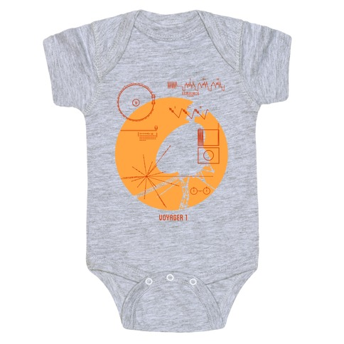 Retro Voyager 1 Golden Record Baby Onesy