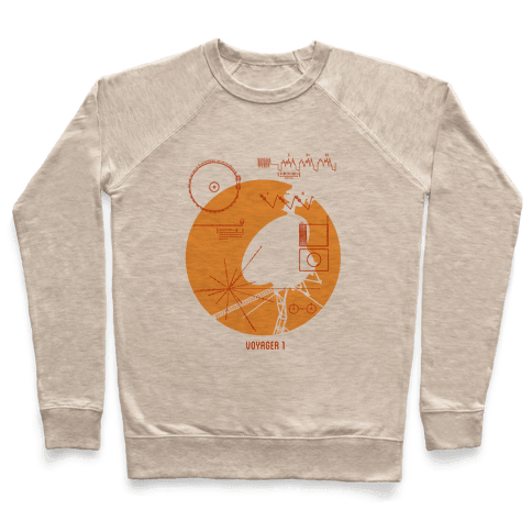 Retro Voyager 1 Golden Record Pullover