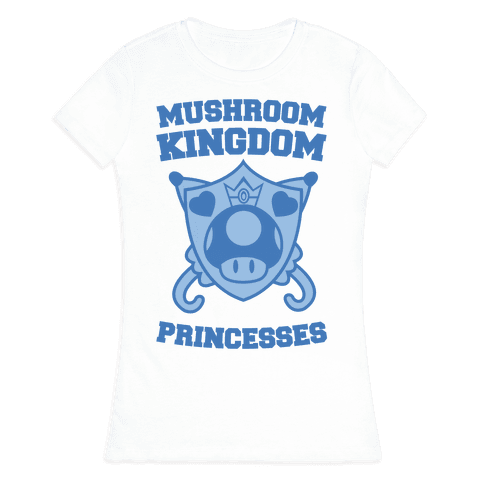 Team Mushroom Kingdom Princesses Womens T-Shirt