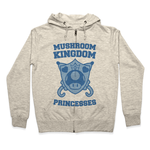 Team Mushroom Kingdom Princesses Zip Hoodie