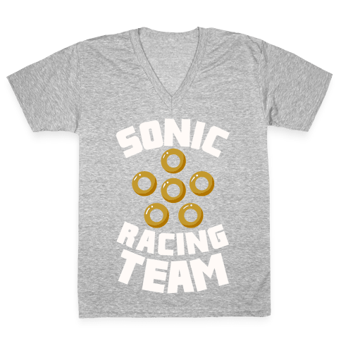 Sonic Racing Team V-Neck Tee Shirt