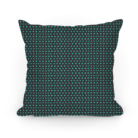 Teal Dot Pattern Pillow