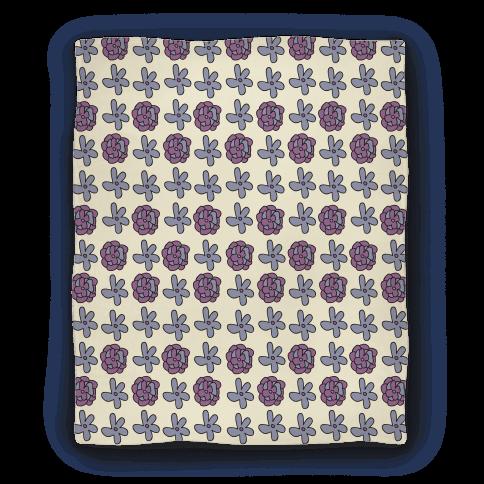 Doodle Flower Pattern Blanket Blanket