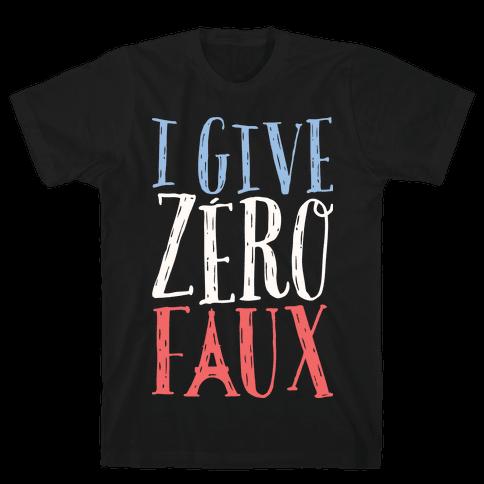 I Give Zero Faux Mens T-Shirt