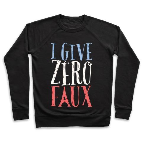 I Give Zero Faux Pullover