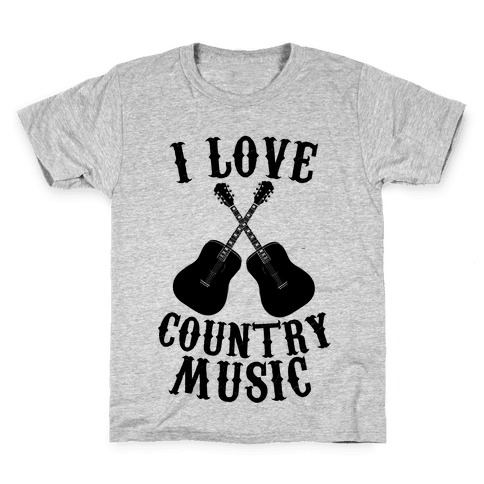 I Love Country Music Kids T-Shirt