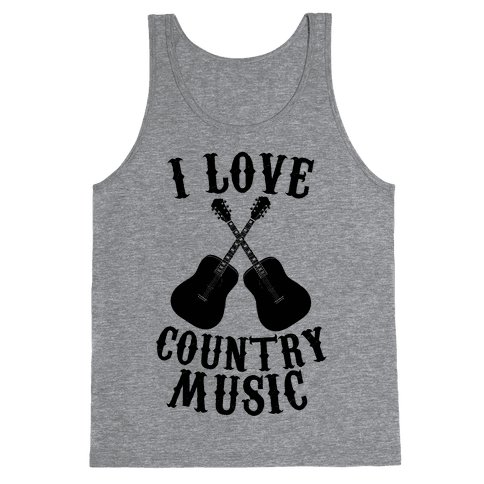 I Love Country Music Tank Top