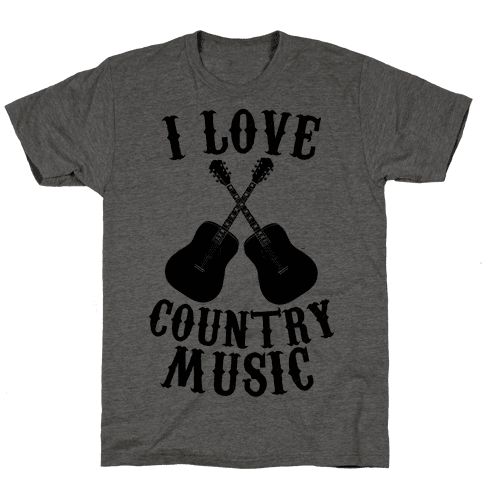 I Love Country Music Mens T-Shirt