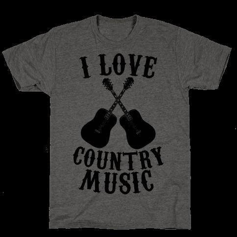 I Love Country Music Mens T-Shirt