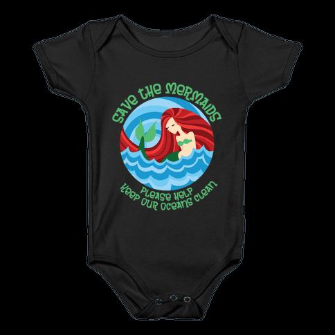 Save The Mermaids Baby Onesy