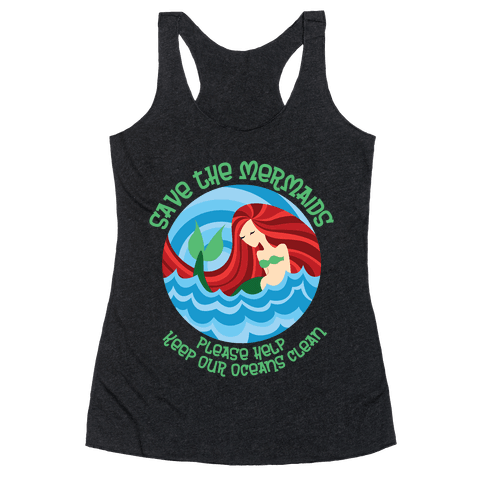 Save The Mermaids Racerback Tank Top