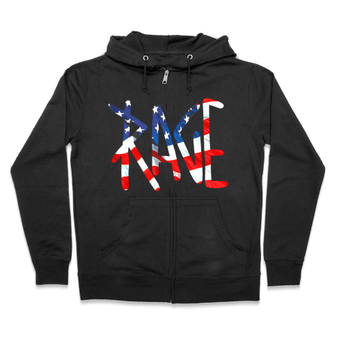 Rage (America) Zip Hoodie