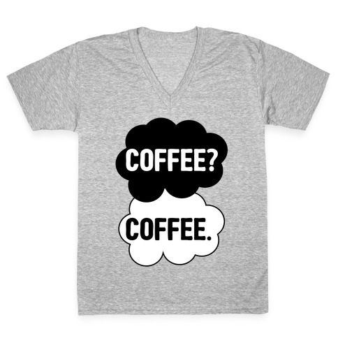The Fault In Our Coffee V-Neck Tee Shirt