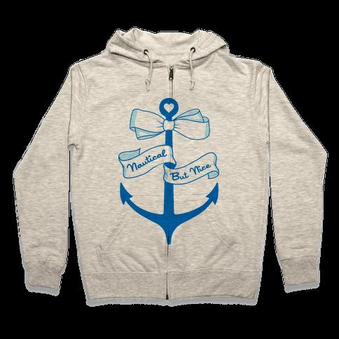 Nautical But Nice Zip Hoodie