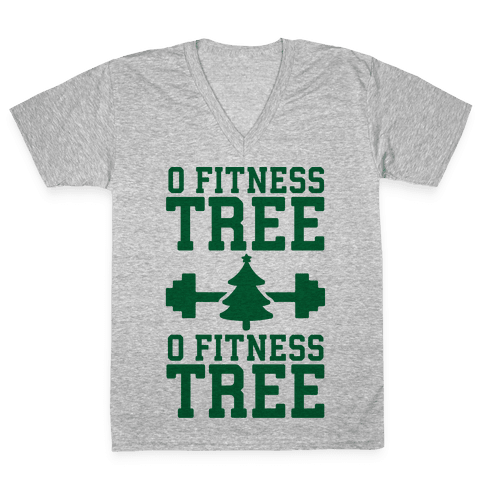 O Fitness Tree, O Fitness Tree V-Neck Tee Shirt