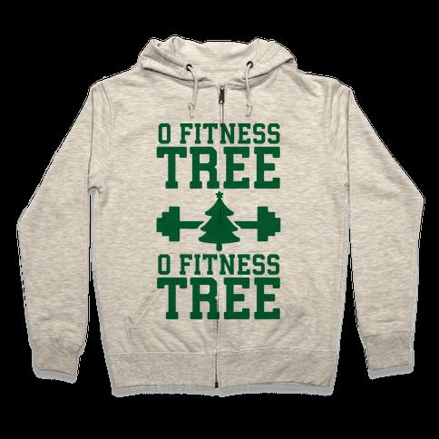 O Fitness Tree, O Fitness Tree Zip Hoodie
