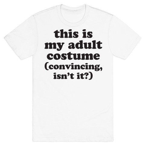 Adult Human Halloween Costume Mens T-Shirt