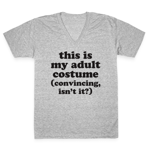 Adult Human Halloween Costume V-Neck Tee Shirt