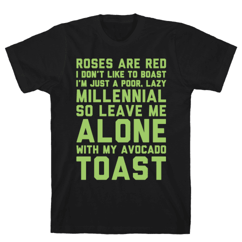 Millennial Poem White Print Mens T-Shirt