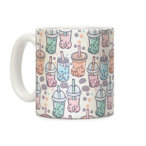 Boba Butts Pattern Coffee Mug