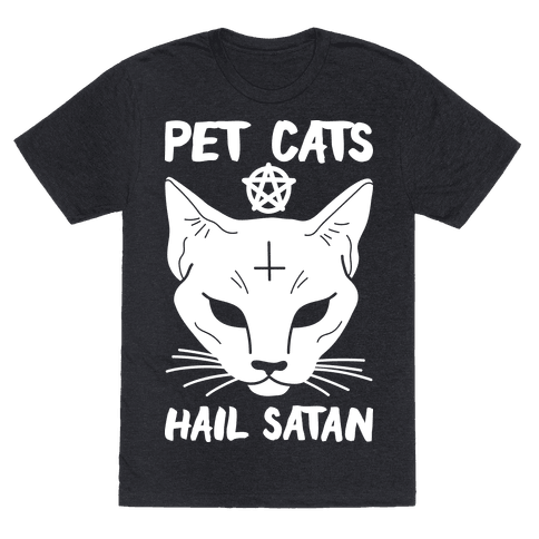 Pet Cats Hail Satan Sphynx Mens T-Shirt