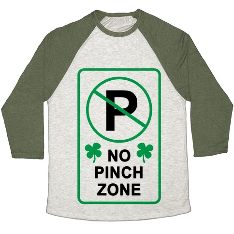 No Pinch Zone Baseball Tee