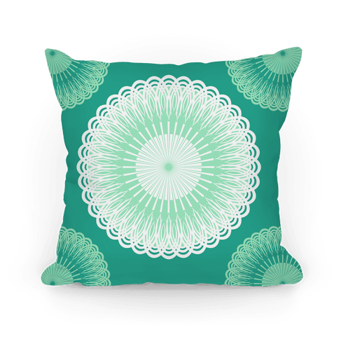 Green and White Flower Mandala