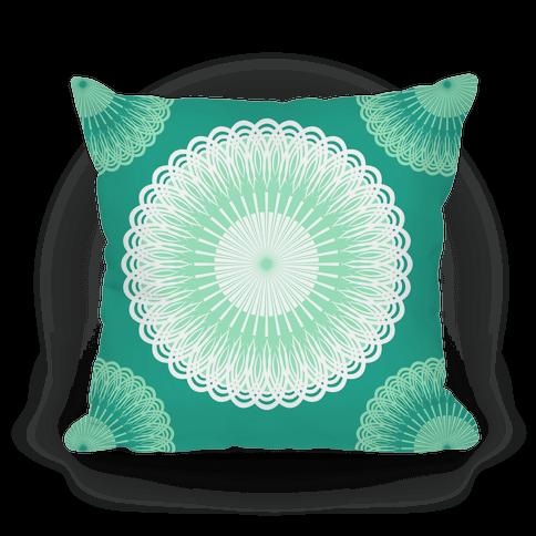 Green and White Flower Mandala