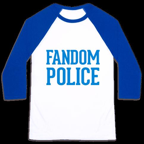 Fandom Police Baseball Tee