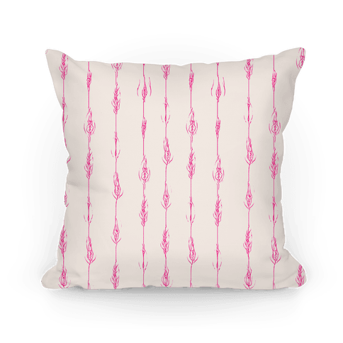 Feathery Vagina Pattern Pillow