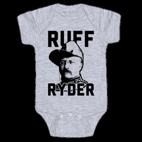 Ruff Ryder Theodore Roosevelt Baby Onesy