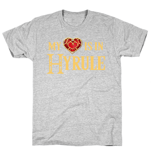 My (Heart) is in Hyrule Mens T-Shirt