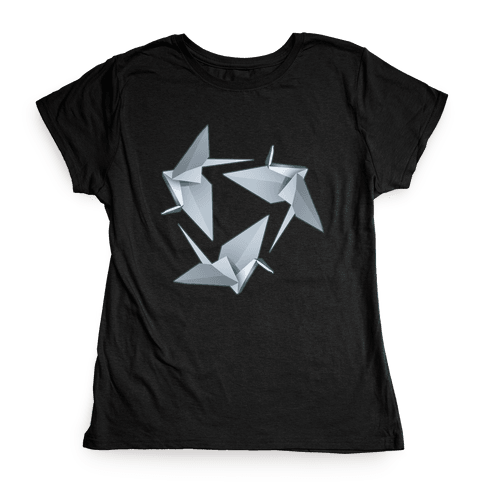 Origami Paper Crane Womens T-Shirt